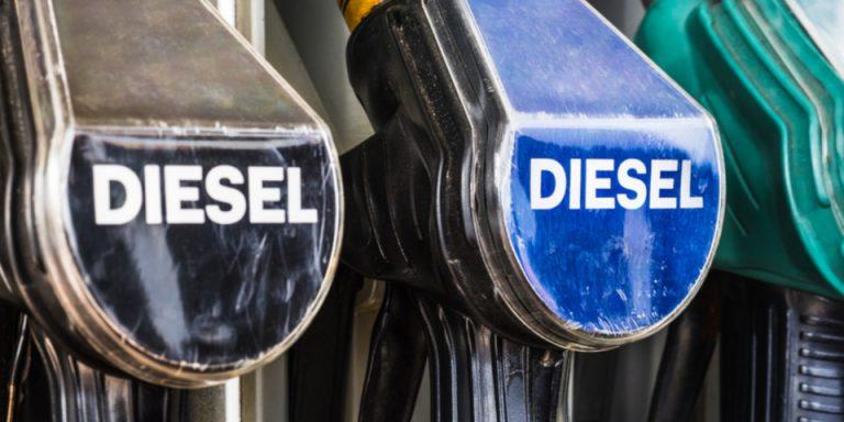 Weekly diesel prices